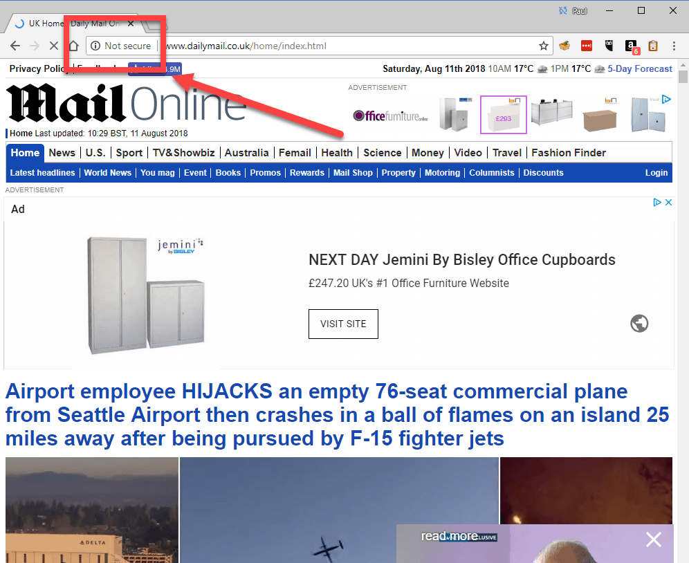 daily mail not secure